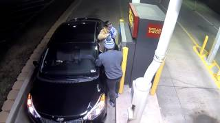 Most Wired late night ATM Wells fargo bank robbery caught on Tape  cctv Video Love