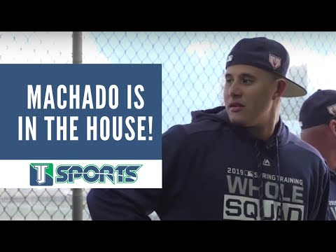 Manny Machado trained and met his Padres teammates