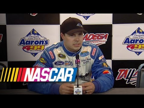 Press Pass: David Gilliland addresses media | Aaron's 499 at Talladega (2013)