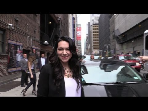 Laura Prepon outside the David Letterman Show