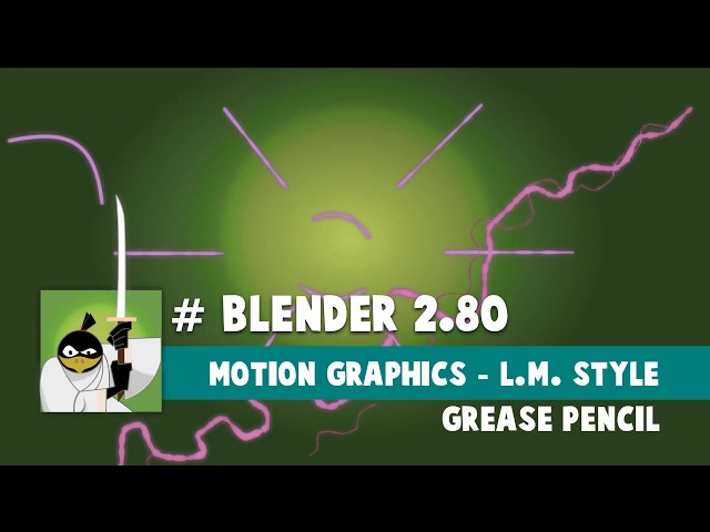 Blender 2.80 - Grease Pencil - Motion Graphics - Liquid Motion style
