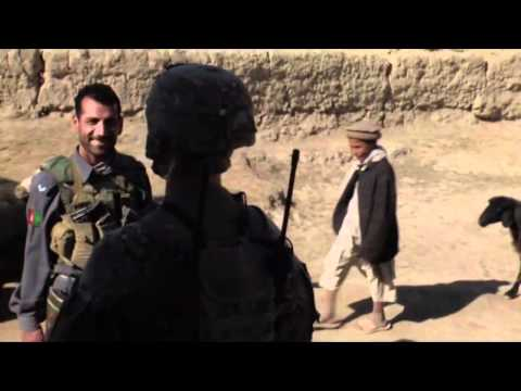 U.S. Soldiers and Afghan Forces patrol remote village and help locals in GHAZNI