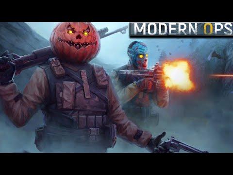 Хеллоуинское обновление Modern Ops Online FPS! лучший шутер на андроид!