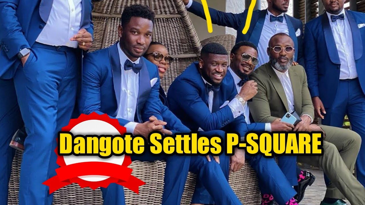 Download Tears of JOY As Peter(Mr P), Paul(Rudeboy) And Jude Engees (P-SQUARE) Re-Unite To Celebrate Andre