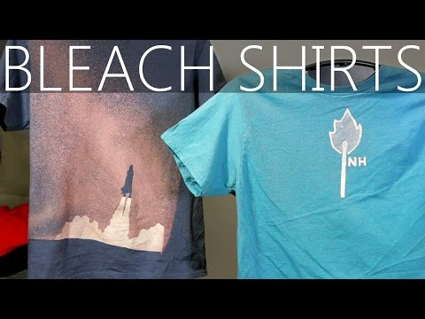 How To Design Custom Shirts With Bleach