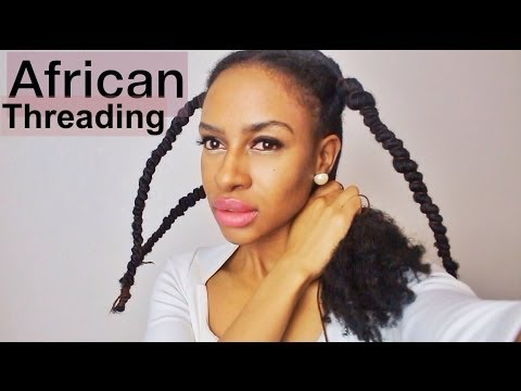 Doing African Threading For Hair Growth & Retention || Dephne Madyara
