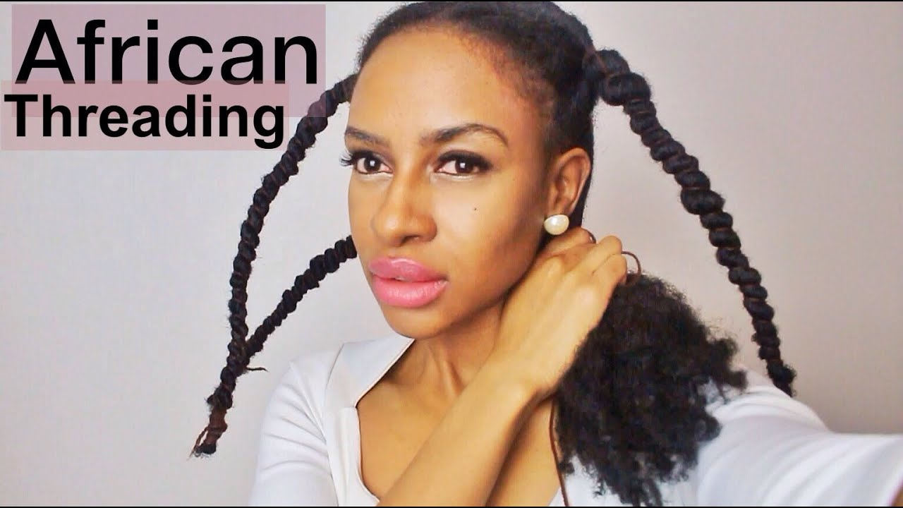 Doing African Threading For Hair Growth Amp Retention