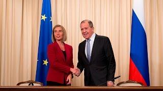 Пресс-конференция С.Лаврова и Ф.Могерини