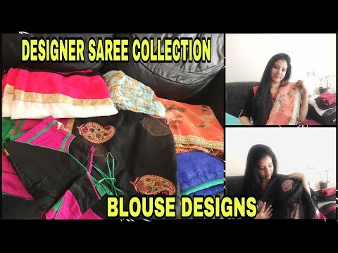 DESIGNER SAREE COLLECTION | GOT A NEW SAREE FROM INDIA | BLOUSE PATTERNS | TELUGU VLOGS
