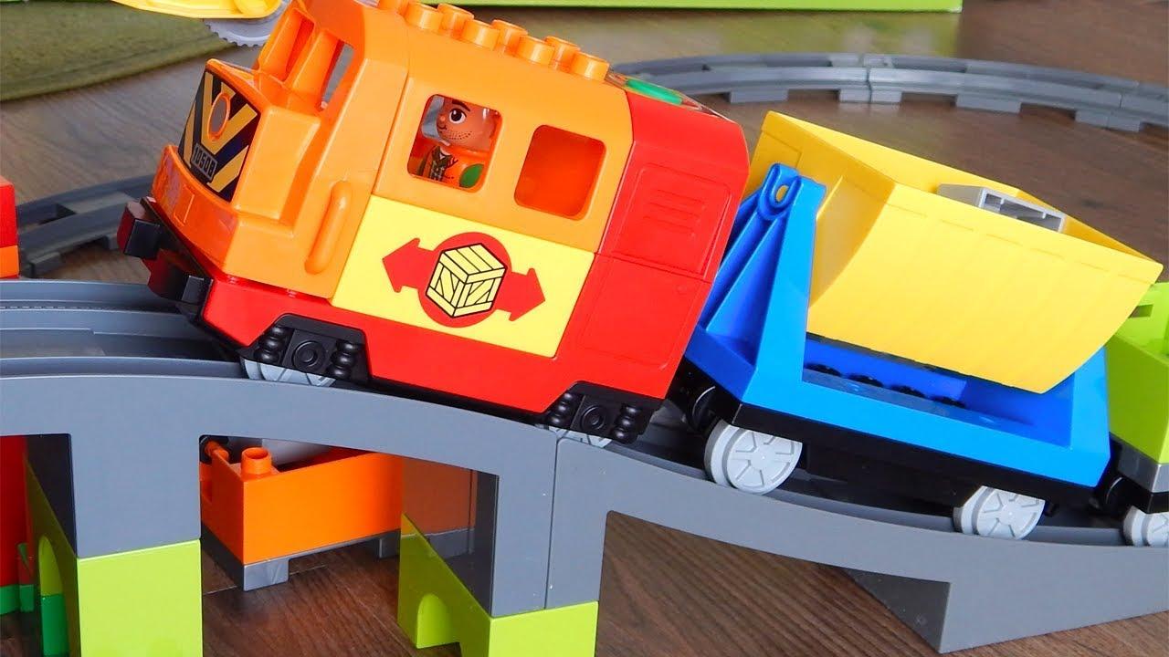 Машинки игрушки Распаковка Лего Паровозик - Видео для ...
