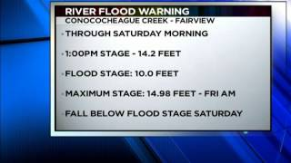 Flash Flooding: Forecast First & First Weather - WHAG News @ 6:00 PM - Friday 6/13/14