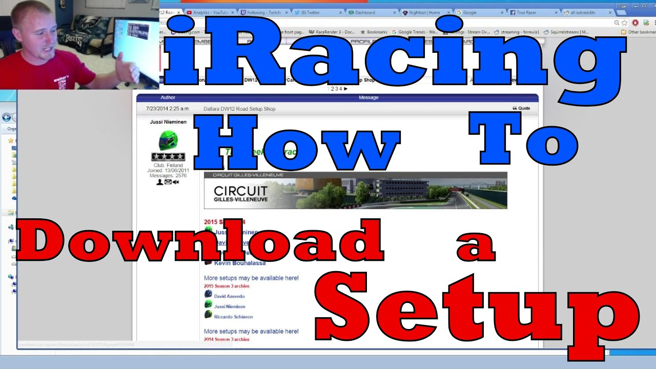 iRacing How To: Download a Setup
