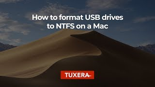 How to format USB drives to NTFS on a Mac with Tuxera Disk Manager