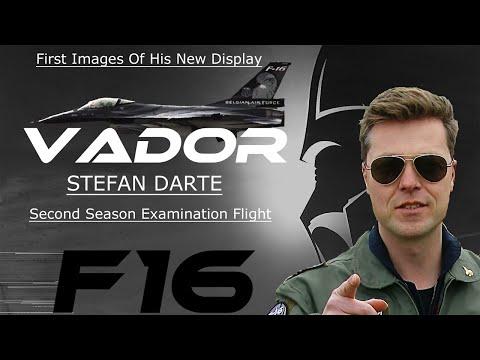 "F16  4K UHD F-16 Stefan""VADOR""Darte examination NEW Display flight with his Dark Falcon !!"
