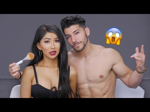 *NEW* Boyfriend Does My Makeup!