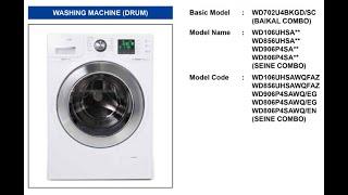 Samsung Drum Washer WDXXX Seri…