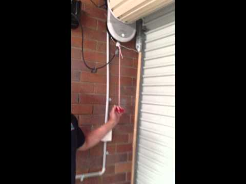 How to open & close a motorised roller door when the power is out