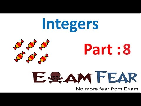 Maths Integers part 8 (Associative, Additive Properties of Integers) CBSE Class 7  Mathematics VII