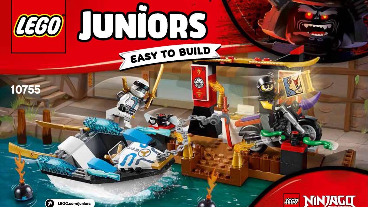 Lego Juniors 10755 Ninjago Zane/'s Ninja Boat Pursuits Easy to Build Play Set