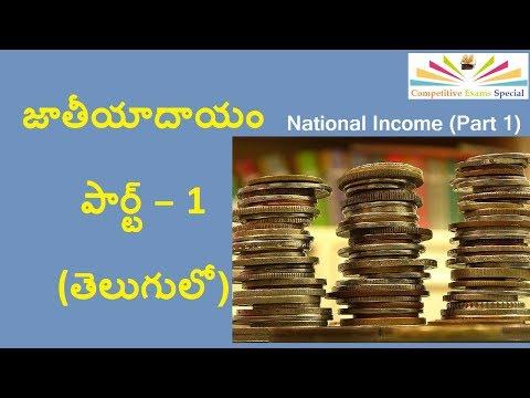 Indian Economy: National Income (జాతీయాదాయం) -  Part 1 in Telugu