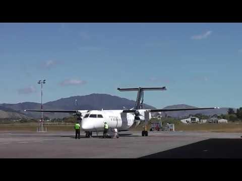 Paraparaumu Kapiti Coast Airport - Air New Zealand Bombardier Q300 ZK-NES Engine Start