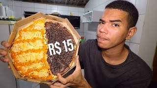 Provando a PIZZA  DE 15 REAIS barata do delivery