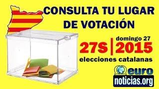 Consulta dónde Votar Elecciones Cataluña 27S - 2015
