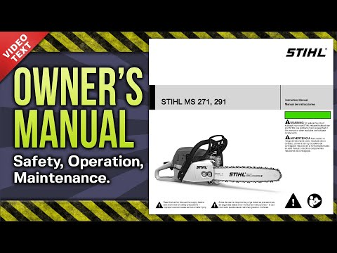 Owner's Manual: STIHL MS 271 291 Chain Saw
