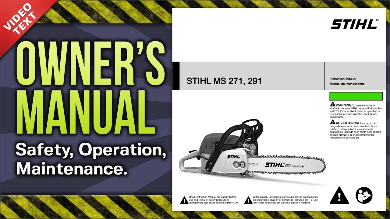 owner s manual stihl ms 271 291 chain saw [ 1280 x 720 Pixel ]
