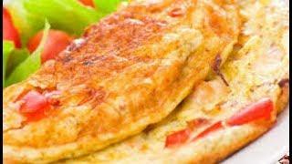 Simples Receita de Omelete de Presunto e Queijo
