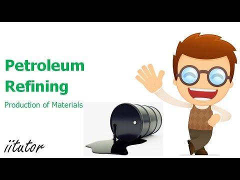 √ Petroleum Refining   Production of Materials   iitutor