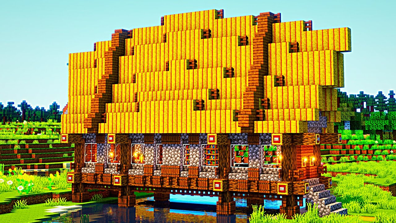 Minecraft Bridge House: Timelapse