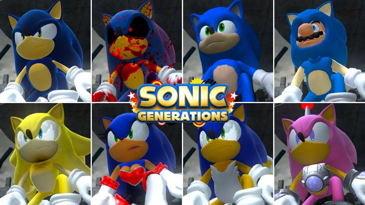 Sonic Generations: Choose Your Favorite Sonic Design 2 (Designs Compilation)