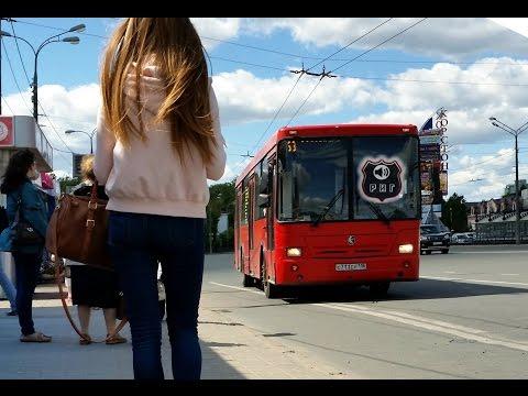 Информатор в казанском автобусе. Нефаз, 63 маршрут. Казанский автобус