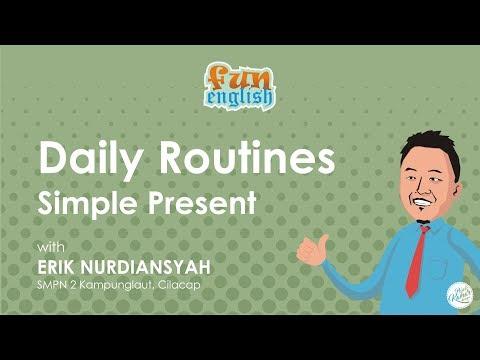 Students daily routines | Video Pembelajaran Bahasa Inggris