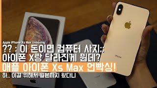 조.. 졸라 크다.. 애플 아이폰 Xs Max 언빡싱! 근데 X 쓰는데 굳이 사야하나?? (Apple iPhone Xs Max Unboxing)