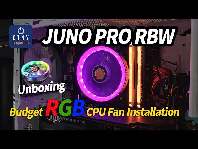 RAIJINTEK JUNO PRO RBW Budget RGB CPU Fan - Thermaltake UX100 Killer