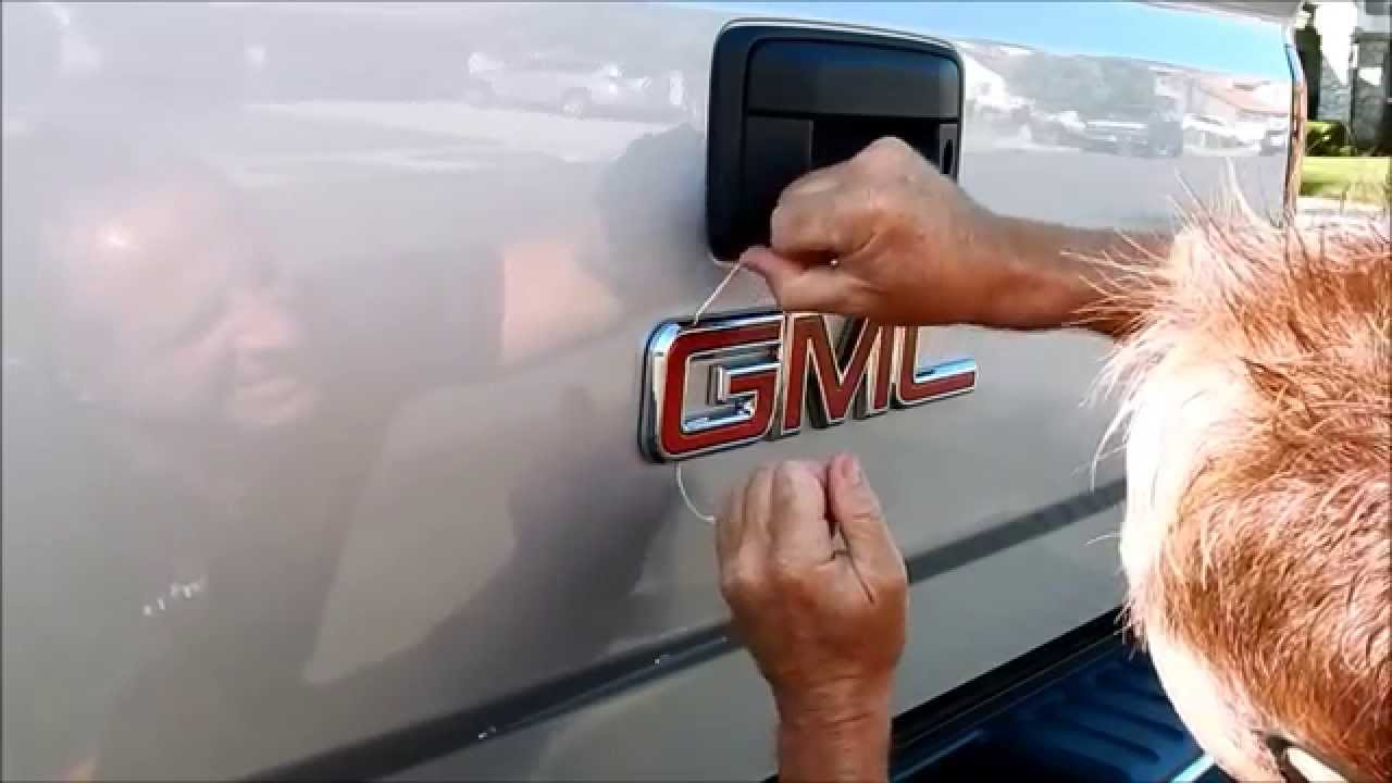 Truck Emblem Removal Removing The Gmc Badge Youtube