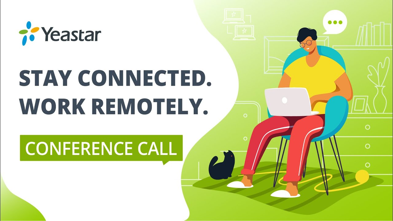 Remote Working & Conference Call Bind High Efficiency   Work from Home