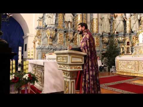 Служба в Фарном костеле Гродно - Проповедь о Петроса Есаяна часть 1
