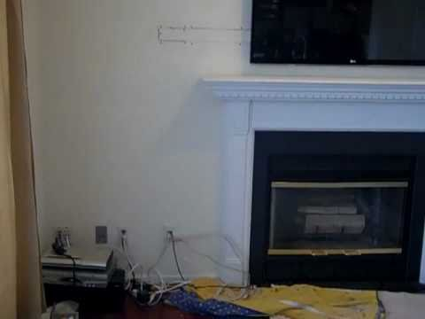 Led Wall Mount Tv Installation Above Fireplace White
