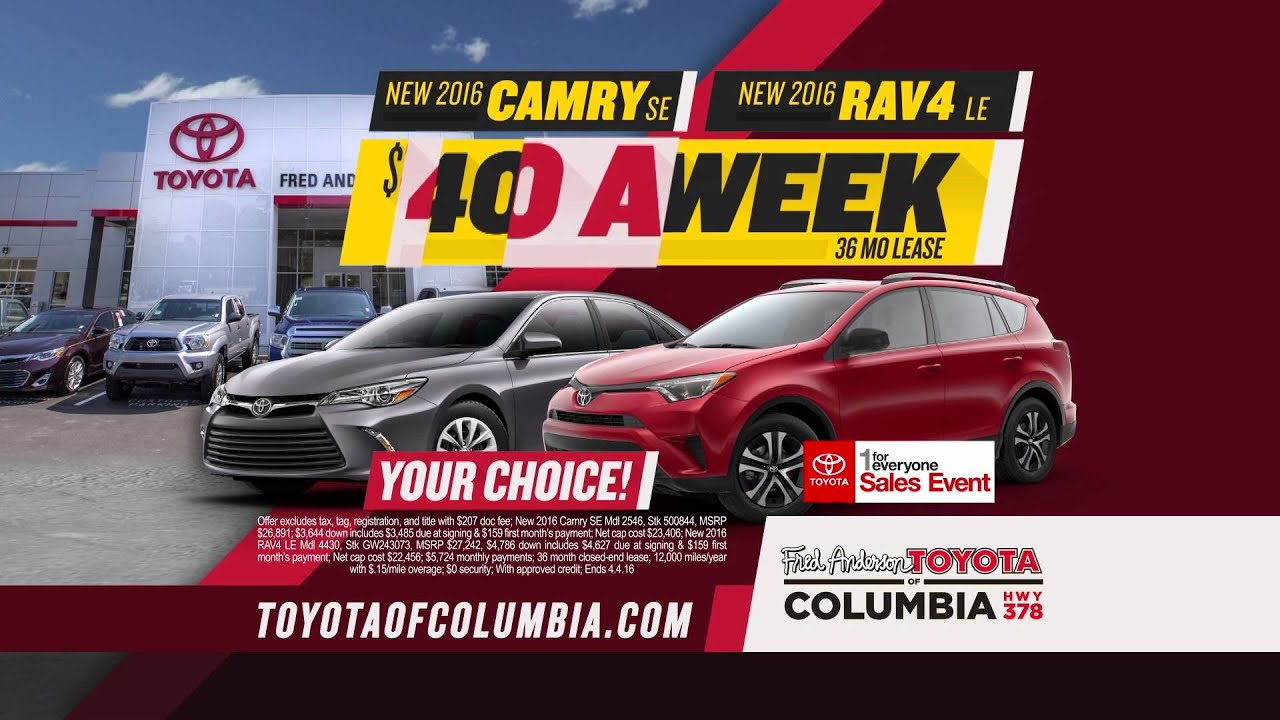 Fred Anderson Toyota of Columbia 1 For Everyone