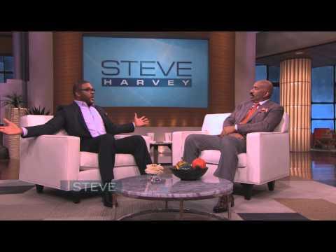Tyler Perry talks about fatherhood on STEVE HARVEY!