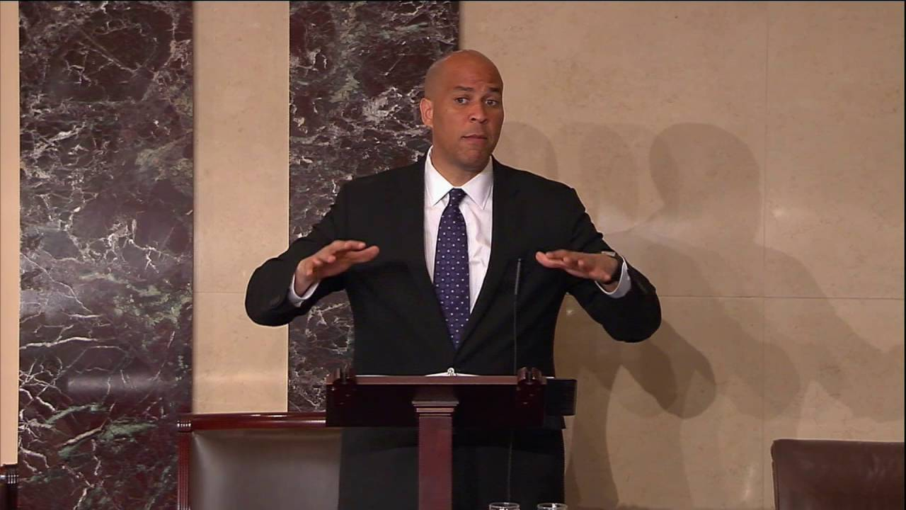 Senator Cory Booker Went In On 45 on The Senate Floor