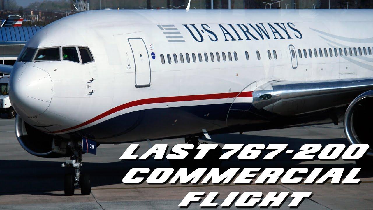 Last Us Airways 767 200 Flight Before Retirement Full