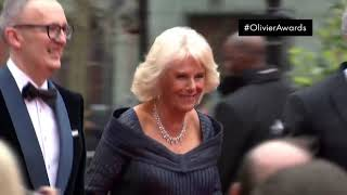 Duchess of Cornwall arrives on the red carpet - Olivier Awards 2019 with Mastercard