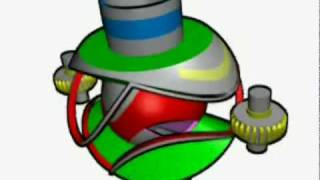 Machine ZZ à piston rotatif sphérique fraisoïdal