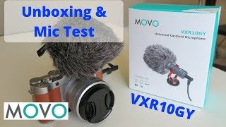 Movo VXR10GY Universal Cardioid Microphone Unboxing and Mic Test