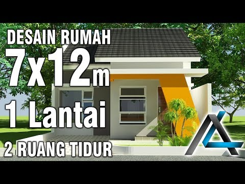 Denah Rumah Minimalis Ukuran 7x12