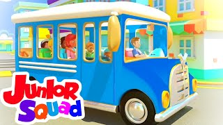 Wheels On The Bus Go Round And Round + More Nursery Rhymes for Kids from Junior Squad